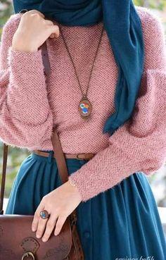 41 Ideas Fashion Hijab Style Chic Beautiful For 2019 – Hijab Fashion 2020 Islamic Fashion, Muslim Fashion, Modest Fashion, Unique Fashion, Trendy Fashion, Fashion Outfits, Dress Fashion, Womens Fashion, Rosa Pullover