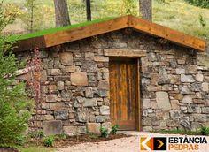 Stone Cottages, Stone Houses, Modern Barn, Modern Rustic, Root Cellar Plans, Storm Cellar, Underground Shelter, Underground Building, Cellar Design