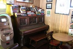 The piano on which Janis Joplin used to play at The Silver Peso, Larkspur CA. by Looking for Janis, via Flickr