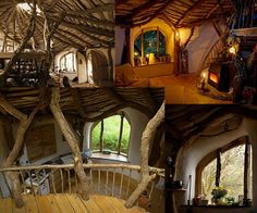 Hobbit style home that uses mostly what is available in nature to allow for low impact on nature.