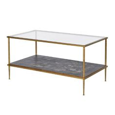 Gold Leaf Glass Coffee Table