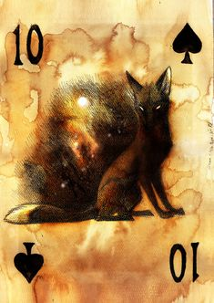 Ten of Spades: Skat of Foxes playing cards - by Culpeo Fox Playing Cards Art, Playing Card Games, Vintage Playing Cards, Tarot, Paper Journal, Art Plastic, Fuchs Illustration, Play Your Cards Right, Jokers Wild