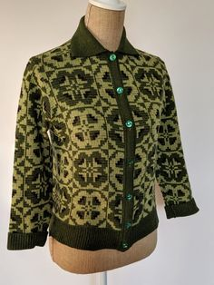 Your place to buy and sell all things handmade 1950s Outfits, All Things, Men Sweater, Buy And Sell, Green, Clothing, Sweaters, Handmade, Stuff To Buy