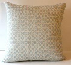 Designer 18x18 Pale Blue and Ivory Cream Linen by 6Wilson on Etsy, $65.00
