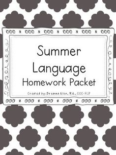 Looking for some summer work for your students? This packet is perfect for preschoolers and kindergarteners. I love using thematic units throughout the school year, so I asked myself, why not carry those over during the summer months? While incorporating thematic units each week, this language packet focuses on different areas of language development.The following thematic units are targeted: ocean animals, the beach, insects/bugs, fruits, vegetables, pets, jungle animals, school supplies…