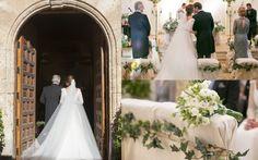 La boda de Carla, con vestido de Teresa Palazuelo.