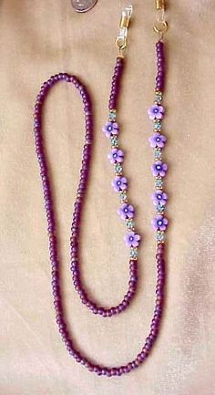 Items similar to Purple Flower and Crystal Eyeglass Chain on Etsy. Purple Flower and Crystal Eyeglass Chain Diy Jewellery Chain, Diy Jewelry, Beaded Jewelry, Beaded Bracelets, Purple Jewelry, Beaded Beads, Beaded Lanyards, Glass Necklace, Diy Necklace