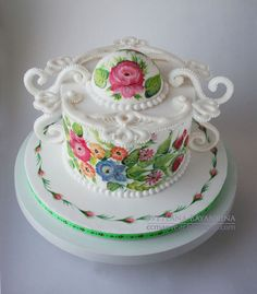 Cake with Russian style painting by ccmanveer