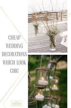 Elegant doesnt mean expensive. You can make unique and cheap wedding decorations. See our gallery and make sure it is easy! #weddingforward #wedding #weddingdecor #cheapweddingdecor