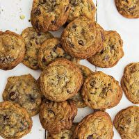 Dark Chocolate, Pistachio & Smoked Sea Salt Cookies by Joy Wilson