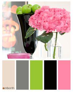 Beautiful bold pink colour palette #colour scheme