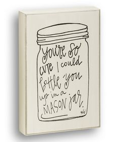 Look at this #zulilyfind! 'You're So Cute' Wall Sign by Collins #zulilyfinds