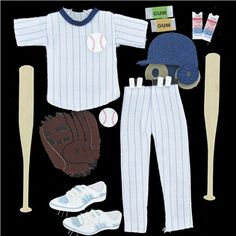 Baseball 3-D Sticker Embellishments are perfect for decorating scrapbooks, cards, and much more.