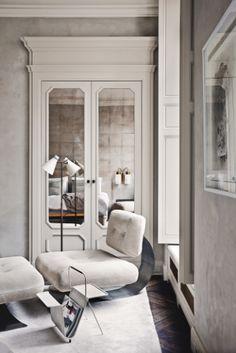 Joseph Dirand: mirrored closet doors