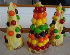 kids candy Christmas trees