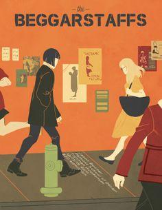 The Beggarstaffs by Rachel Verrengia, via Behance