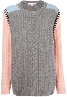 57766f5ffb Parker Chinti   contrast sleeve aran knit sweater Contrast