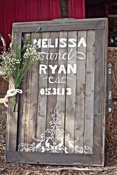 I would like to make something like this for our wedding