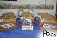 Favors at a Thomas the Tank Engine Party #Thomas #trainparty