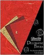 Reds - These assorted paper packs from Thailand feature great color combinations, perfect for paper crafting, card making, book arts, collage and m...