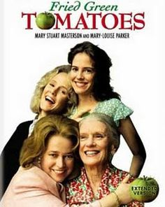 Fried Green Tomatoes is a 1991 comedy-drama film based on the novel Fried Green Tomatoes at the Whistle Stop Cafe by Fannie Flagg. With Kathy Bates, Mary Stuart Masterson, Mary-Louise Parker, Jessica Tandy. Jessica Tandy, Mary Louise Parker, Film Music Books, Music Tv, Music Games, Old Movies, Great Movies, Plane Movies, Excellent Movies