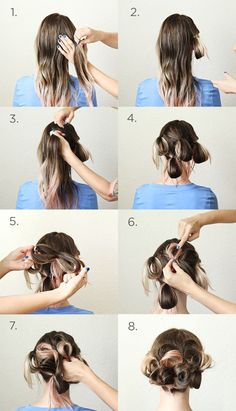 A simple updo Basic Hairstyles, Messy Hairstyles, Wedding Hairstyles, Formal Hairstyles, Simple Updo, Easy Updo, Hair Simple, Hair Dos, Your Hair