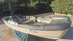 This kayak will get you in to tight spots holding big fish!