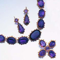 An early 19th century amethyst parure,