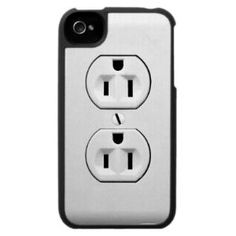 Funny Electrical Outlet iPhone 4 Speck Case