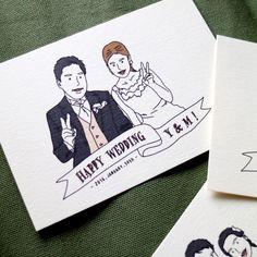 【オーダーメイド】似顔絵wedding card【送料無料】
