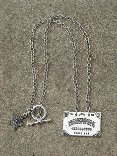 Silver Ouija Board Necklace, available in my Etsy shop, InkandRoses13
