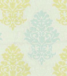 Upholstery Fabric- Waverly Romantic Rhyme Celery