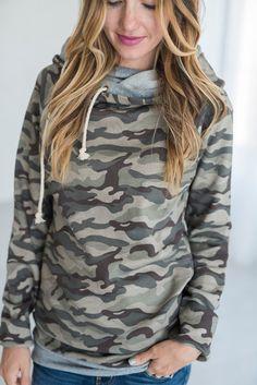 Double Hooded Sweatshirt - Camo