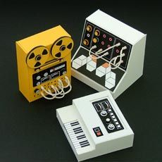 Miniature Cardboard #Audio #Equipment.
