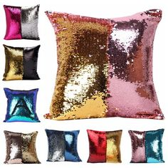 Cheap pillow cushion case cover, Buy Quality cushion case directly from China pillow case cushion cover Suppliers: Hot Sales New Fashion VR Discoloration Magic Pillow Two Tone Glitter Sequins Pillows Decorative Cushion Case Covers