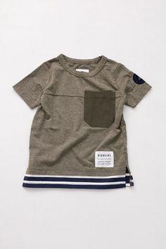 simply short sleeve(裾ボーダーT)/カーキ - 100% picnic.