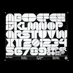 "searchsystem: ""BurnType / BT Super Eighty / WIP Letter Set / Typeface / 2017 "" Hand Lettering Alphabet, Alphabet Design, Typography Letters, Bold Typography, Typographic Design, Cyberpunk, Typographie Logo, Typographie Inspiration, Retro Font"