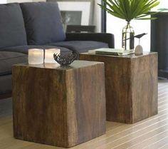 wood cubes