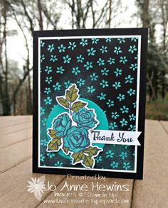 Petal Passion with sponging, Stampin Up