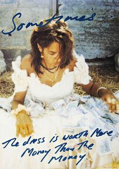 Available for sale from Alpha 137 Gallery, Tracey Emin, Sometimes the Dress is Worth More Money than the Money Limited edition offset lithograph. Tracey Emin Art, Tate Modern Gallery, The Gospel Of Wealth, Alex Katz, English Artists, British Artists, Damien Hirst, Feminist Art, Pictures To Paint