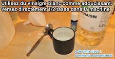 Le Vinaigre Blanc pour Adoucir le Linge et Remplacer l'Adoucissant.