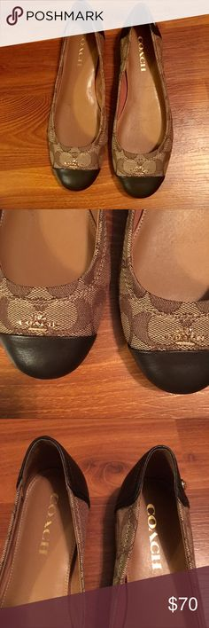 Coach flats Love these show so much! I bought it at Nordstrom Rack and thought I really needed it but Im  starting to become a hoarder. What a great work shoe! Coach Shoes Flats & Loafers