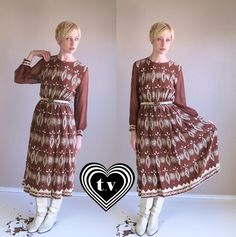 vintage 70s Brown Silk ETHNIC PRINT full skirt by TigerlilyFrocks, $35.00    Like this too!