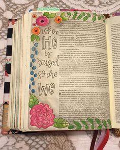 Bible Journaling by Nicki Verbil @nickicreates