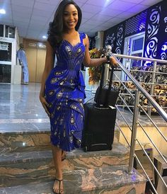 Nigerian Ankara Styles Catalogue is made up of latest ankara styles stylish ladies like to rock in any occasion. These are recent creative ankara styles African Attire, African Wear, African Women, African Dress, African Style, Ankara Mode, Ankara Gowns, Ankara Dress, African American Fashion