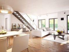 Hervorragend Bungalow AMBIENCE 100 V5 Mit Flachdach   Bien Zenker | HausbauDirekt.  Bungalow Haus Innen Modern ...