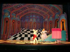Capital Scenic provided scenery for the Wassau Dance Theatre's production of 'Alice in Wonderland'.  A highlight of the show was the 25' x 40' 'Hall of Doors' painted backdrop.