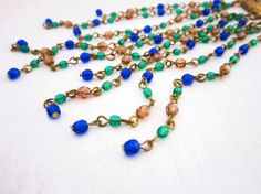 Set of Necklace Bracelet and Earrings Czech by JewelryNeshElly, $45.00