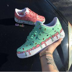What flavor ice cream is your favorite? Comment be… – – Monika - Shoes Sneakers Custom Painted Shoes, Hand Painted Shoes, Nike Shoes Air Force, Aesthetic Shoes, Pink Aesthetic, Hype Shoes, Fresh Shoes, Custom Sneakers, Custom Vans