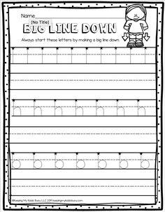 FREE Handwriting Practice — Keeping My Kiddo Busy Kindergarten Handwriting, Free Handwriting, Handwriting Practice, Writing Activities For Preschoolers, Word Work Activities, Alphabet Activities, Preschool Curriculum Free, Free Kindergarten Worksheets, Pre Writing